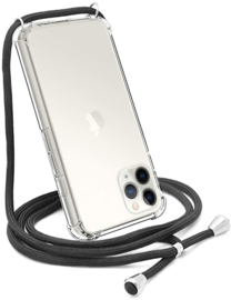 iPhone 12 / 12 Pro Transparant TPU Hoesje met Koord Crossbody