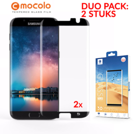 2 STUKS S7 Edge Mocolo Premium 3D Case Friendly Tempered Glass Protector