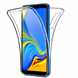 Galaxy A7 (2018) 360° Full Cover Transparant TPU Hoesje