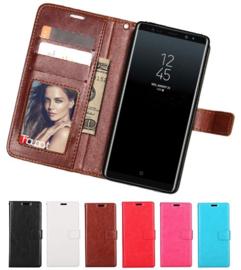 Galaxy Note 8 Leren Portemonnee Hoesje Met Pasfotovakje