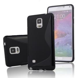 Galaxy Note 4 S-Line TPU Hoesje Transparant / Kleur