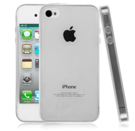 Iphone 4 / 4S Soft TPU Hoesje Transparant
