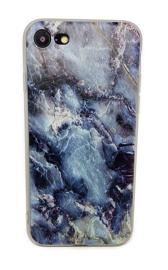 Iphone 7 / 8 Soft TPU Hoesje Marmer Design Dark & Wild