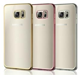 Galaxy S6 Soft TPU Hoesje Met Coating Goud / Zilver / Grijs