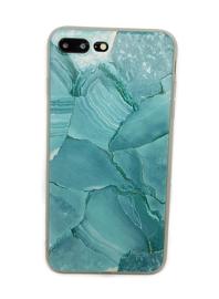 Iphone 7 Plus / 8 Plus Soft TPU Hoesje Marmer Azuurblauw