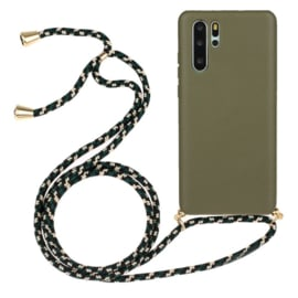 Galaxy Note 10 Plus Crossbody TPU Hoesje met Koord Groen