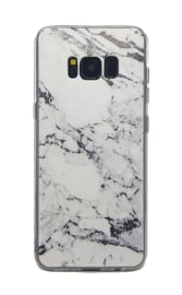 Galaxy S8 Plus Soft TPU Hoesje Marmer Design Zwart & Wit