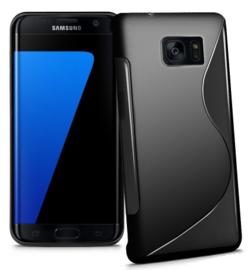 Galaxy S7 Edge S-Line TPU Hoesje Transparant / Kleur
