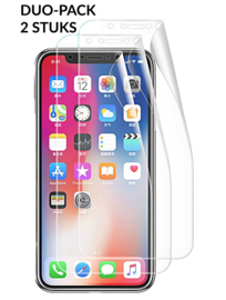 2 STUKS iPhone Xs Max Full Cover Folie Screen Protector