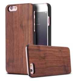 iPhone 6 Plus / 6S+ Echt Houten Hoesje - Wood Case - 4 Houtsoorten