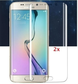 2 STUKS Galaxy S6 Edge 3D Curved Full Body Folie Screen Protector