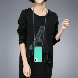 iPhone 11 Crossbody TPU Hoesje met Koord Mint