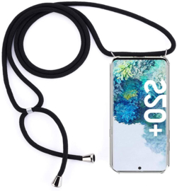 Galaxy S20 Plus Crossbody Transparant TPU Hoesje met Koord