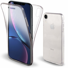 iPhone Xr 360° Full Cover Transparant TPU Hoesje
