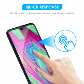Galaxy A40 Full Cover Full Glue Tempered Glass Protector