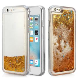 iPhone 6 / 6S TPU Vloeibaar Glitter Hoesje met Sterretjes