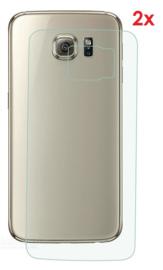 2 STUKS Galaxy S6 Edge Transparant Folie Achterkant Protector