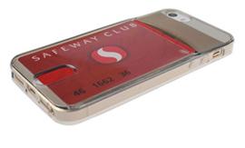 Iphone 5 / 5S / SE TPU Hoesje Met Card Slot - Pasjesvakje