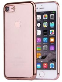 Iphone 7 / 8 Soft TPU Hoesje Met Coating Goud / Zilver / Grijs