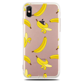 iPhone Xr Soft TPU Hoesje Banaan Print