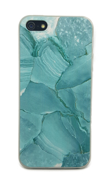 Iphone 5 / 5S / SE Soft TPU Hoesje Marmer Design Azuurblauw