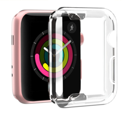 Apple Watch 1/2/3/4/5 Transparant Soft TPU Hoesje Full Cover