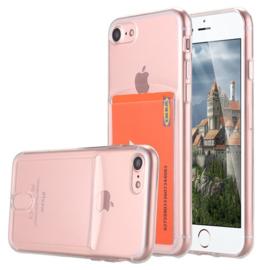 iPhone 7 / 8 TPU Hoesje Met Card Slot - Pasjesvakje
