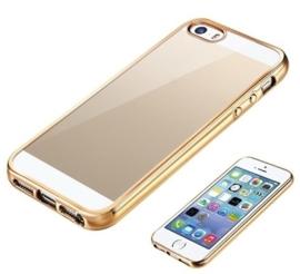 Iphone 5 / 5S / SE Soft TPU Hoesje Met Coating Goud / Zilver / Grijs