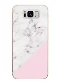 Galaxy S8 Plus Geometrisch TPU Hoesje Marmer Wit / Roze