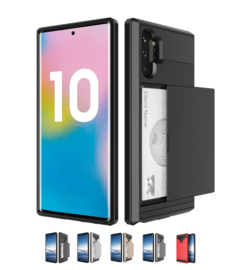 Galaxy Note 10 Plus Slide Armor Hoesje Met Pashouder