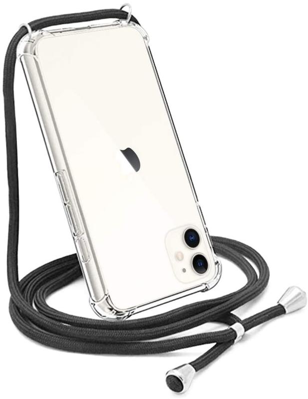 iPhone 11 Crossbody Transparant TPU Hoesje met Koord