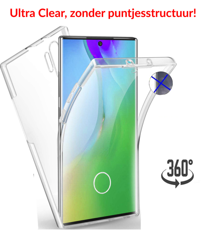 Galaxy Note 10 360° Ultra Clear Hybrid PC + TPU Hoesje