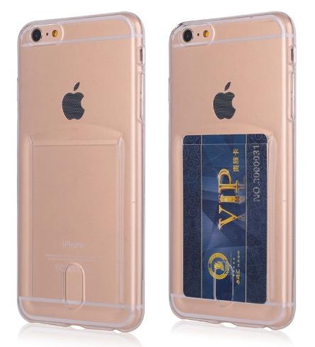 Iphone 6 Plus / 6S+ TPU Hoesje Met Card Slot - Pasjesvakje