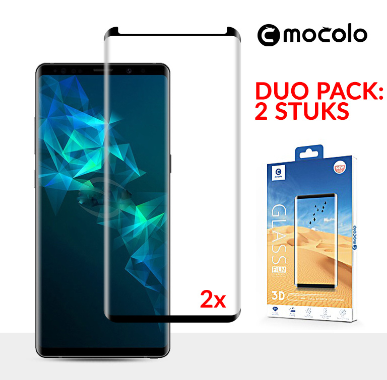 2 STUKS Note 9 Mocolo Premium 3D Case Friendly Tempered Glass Protector