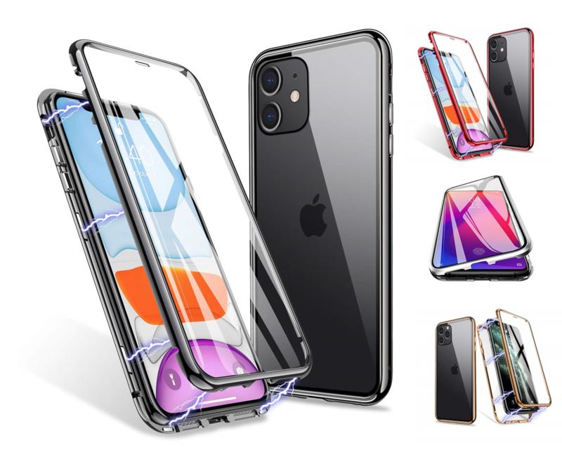 iPhone 11 360º Magnetisch Hoesje Dubbelzijdig Glas