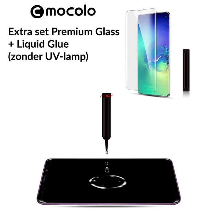 Galaxy S10 Extra Set Premium Glass + Liquid Glue
