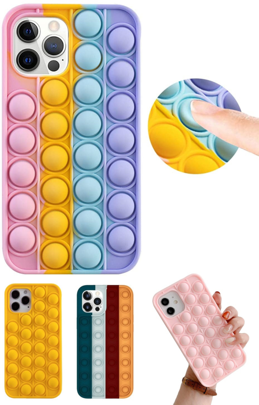 iPhone 12 Pro Max Pop It Fidget Toy Hoesje Soft TPU