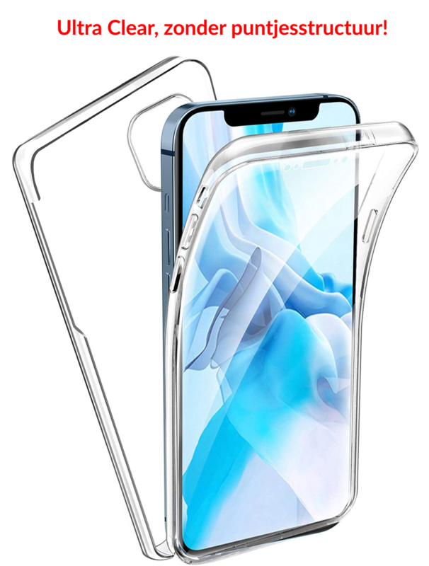 iPhone 12 / 12 Pro 360° Ultra Clear Hybrid PC + TPU Hoesje