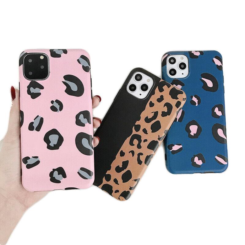iPhone 11 Pro Soft TPU Hoesje Luipaard Print Blauw / Roze