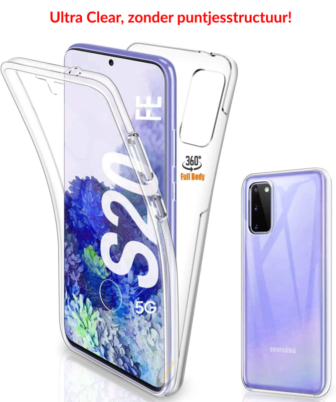 Galaxy S20 FE 360° Ultra Clear Hybrid PC + TPU Hoesje