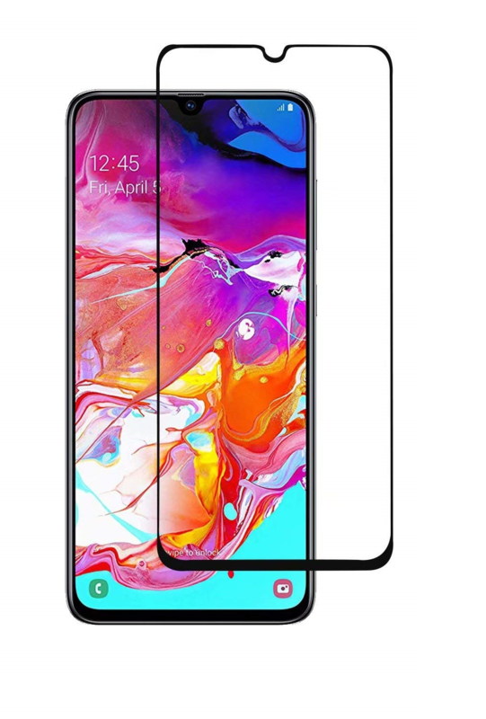 Galaxy A70 Full Cover Full Glue Tempered Glass Protector