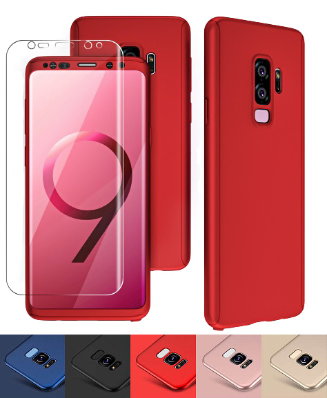 Galaxy S9 Plus 360° Full Cover Case Hoesje incl. Folie Screenprotector