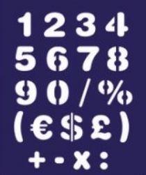 Budget stencils Smily cijfers 2.5 cm