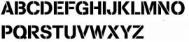 75mm Lettersjablonen Set A - Z hoofdletters Cargo Font