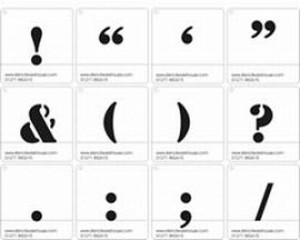 50mm Symbolen Sjablonen Stencil Font - Set A