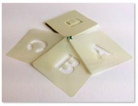 25mm Lettersjablonen Set A - Z hoofdletters Cargo Font