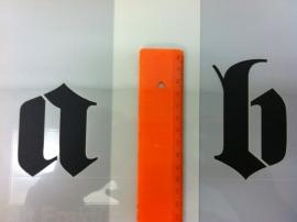 Gothic Sjablonen Set. 10cm set van AZ, az en 09.