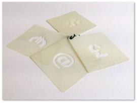 25mm Plantillas de Símbolos CARGO B