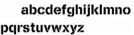 200mm Lettersjablonen Set a-z Kleine Letters Cargo Font