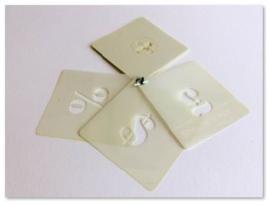 25mm Plantillas de Símbolos Stencil B
